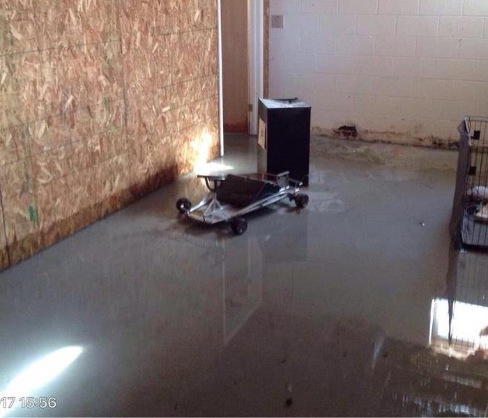 Water Damage in Basement of Home in Rochester, NY Before